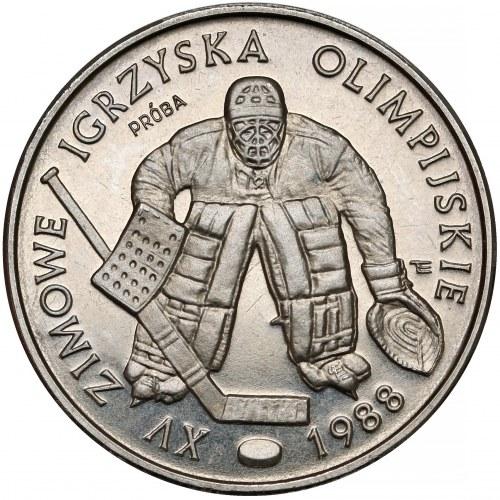 Próba NIKIEL 500 złotych 1987 Olimpiada Calgary