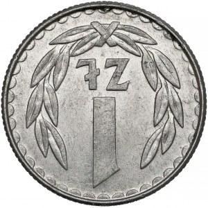 Destrukt 1 złoty 1988 - odwrotka