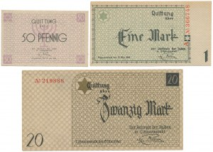 Getto 50 pfg, 1 i 20 marek 1940 (3szt)