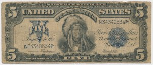 USA, 5 Dollars 1899, Silver Certificate