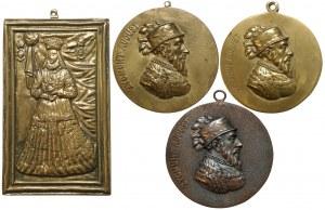 Plakieta i medaliony, Anna i Zygmunt II August (4szt)