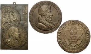 Plakieta i medaliony, Zygmunt II August (3szt)