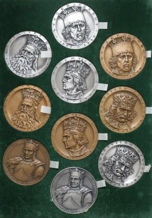 Medale królowie Polski (10szt)