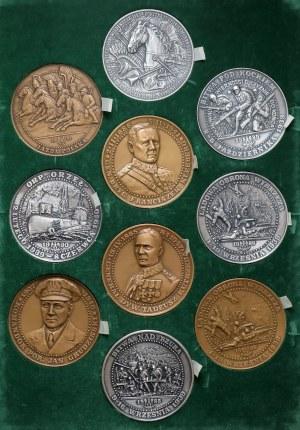 Medale generałowie i bitwy (10szt)