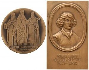 Medal z serii Jasnogórskiej i plakieta Kopernik 1999 (2szt)
