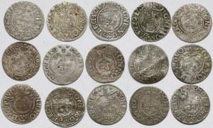 Zygmunt III Waza, Jerzy, Gustaw, Półtoraki 1620-1635 (15szt)