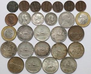 Włochy, zestaw monet MIX (27szt)