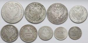 1, 2 i 5 złotych 1817-1839 (9szt)