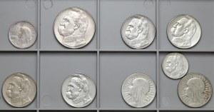 II RP zestaw monet 1-10 złotych 1924-1936 (9szt)