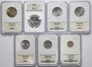 PRL zestaw monet 10 groszy - 10 złotych (7szt)