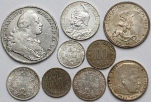 Niemcy, zestaw monet MIX (9szt)