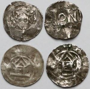 Niemcy, zestaw denarów (4szt)