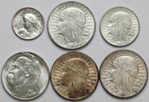 II RP zestaw monet 1-10 złotych (6szt)