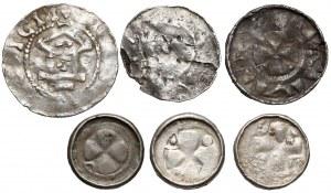 Denary krzyżowe CNP V-VII i denary Moguncja i Lüneburg (6szt)