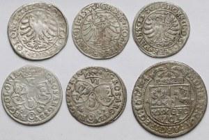 Polska Królewska, Grosze, szóstaki i tymf 1529-1683 (6szt)