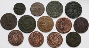 Poniatowski-Zabory, od Szeląga do Grosza 1768-1836 (13szt)