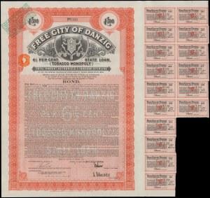 Gdańsk, Tobacco Monopoly, 500 funtów 1927 - rzadka