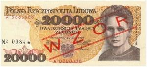 20.000 złotych 1989 - WZÓR - A 0000000 - No.0984
