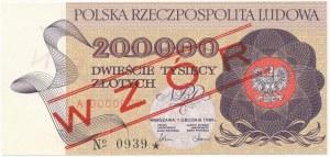 200.000 złotych 1989 - WZÓR - A 0000000 - No.0939