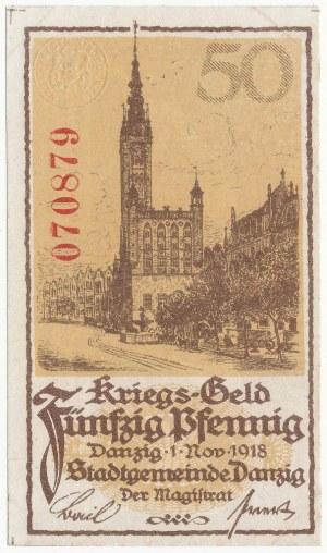 Gdańsk, 50 pfg 1918
