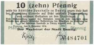 Gdańsk, 10 pfg 1916 - PROBEDRUCK