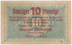 Gdańsk, 10 pfg 1923 - październik