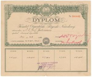 6% Pożyczka Narodowa 1934, Dyplom