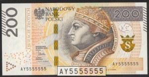200 zł 2015 AY - 5555555
