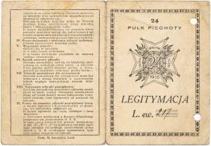 24 Pułk Piechoty, Legitymacja do odznaki