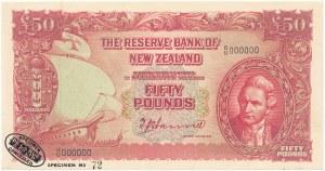 Nowa Zelandia SPECIMEN 50 Pounds (1940 - 1955)