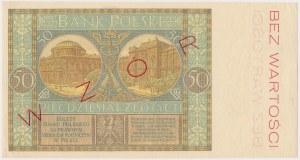50 złotych 1929 - WZÓR - Ser.BN