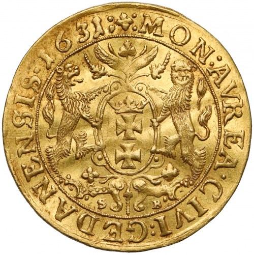 Zygmunt III Waza, Dukat Gdańsk 1631 SB - nowy portret - rzadki