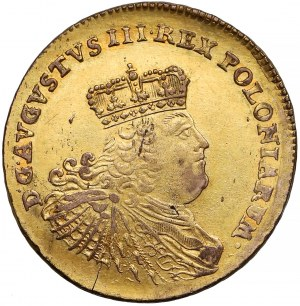August III Sas, 5 talarów 1758 EC - efraimek - emisja wojenna