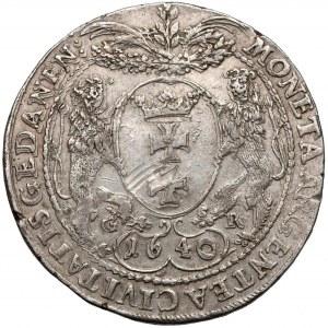 Władysław IV Waza, PÓŁTALAR Gdańsk 1640 GR - rzadkość