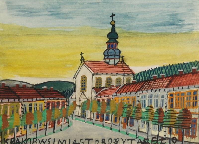 Nikifor KRYNICKI (1895-1968), Panorama miasta