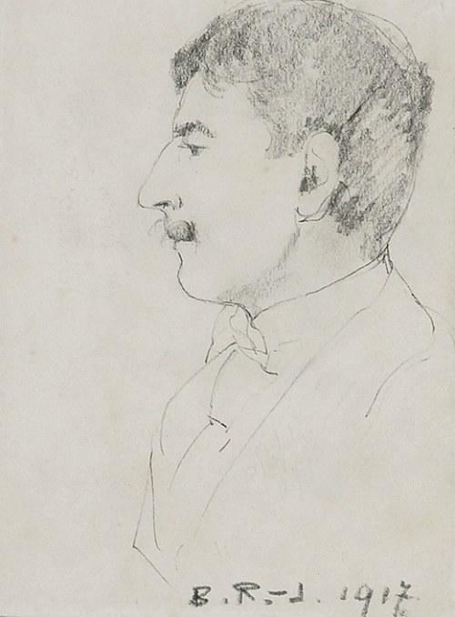 Bronisława RYCHTER-JANOWSKA (1868-1953), Portret męski, 1917