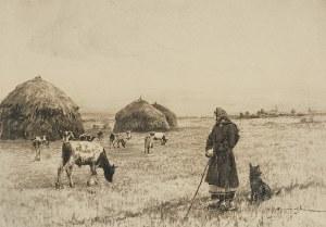 Michał GORSTKIN WYWIÓRSKI (1861-1926), Na polu