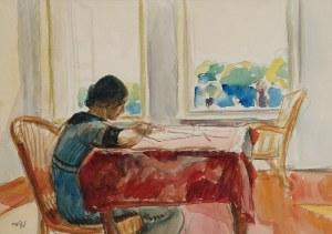 Wojciech WEISS (1875-1950), Aneri - żona artysty przy pracy, 1912