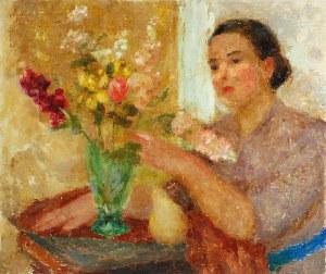 Mieszko JABŁOŃSKI (1892-1965), Układając bukiet