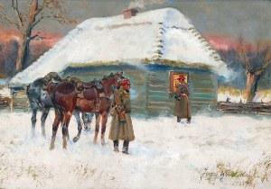Jerzy KOSSAK (1886-1955), Przybyli ułani, 1935