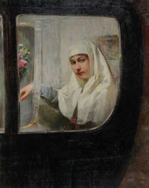 Izrael Abramowicz PASS (1868-1935), Portret kobiety w karocy