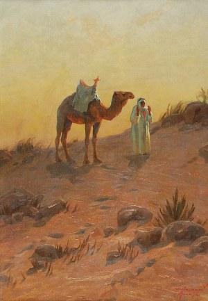 Aleksander LASZENKO (1883-1944), Na pustyni w okolicach Mann w Jordanii, 1936