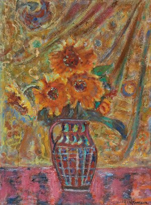Czesław RZEPIŃSKI (1905-1995), Kwiaty w dzbanie