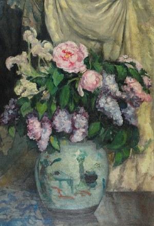 Stefan FILIPKIEWICZ (1879-1944), Kwiaty w chińskim wazonie, 1923