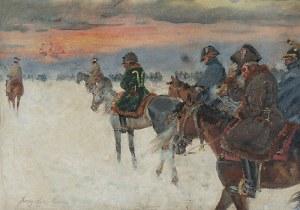 Jerzy KOSSAK (1886-1955), Wizja Napoleona w odwrocie spod Moskwy, 1930
