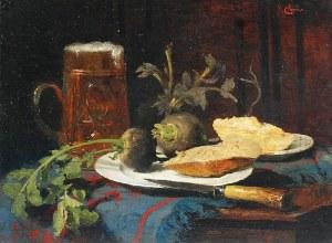 Carl DUXA (1871-1937), Martwa natura z czarną rzepą