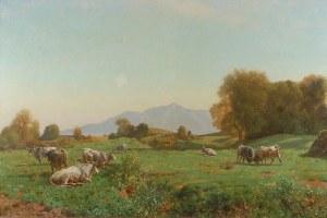 Jules DIDIER (1831-1914), Pejzaż z bydłem