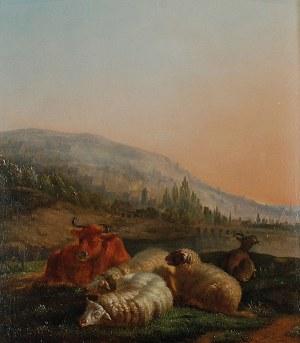 Malarz nieokreślony, austriacki (?), 1 poł XIX w., Pejzaż bukoliczny