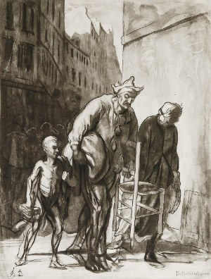 Honoré DAUMIER (1808-1879), Na ulicy