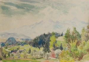 Mieszko JABŁOŃSKI (1892-1965), Widok na Tatry z Białki Tatrzańskiej